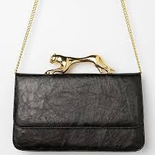Deena & Ozzy Jaguar-Grip Crossbody Bag